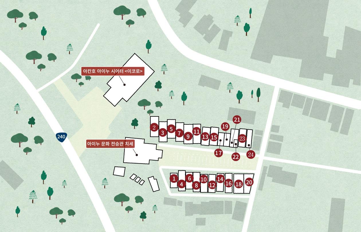 아칸호 아이누코탄 MAP