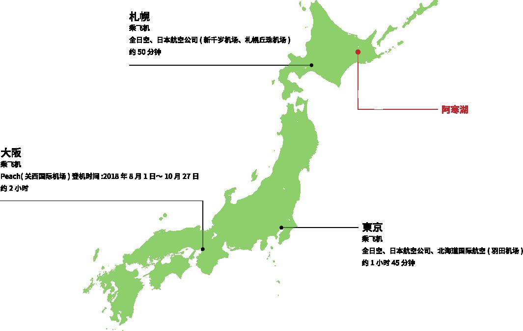 从札幌·东京·大阪方面