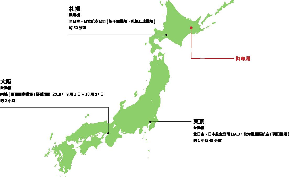 從札幌·東京·大阪方面