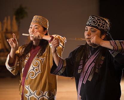 阿寒湖に響くムックリの音色 アイヌの伝統楽器  ムックリ講習